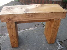 Thick wooden Stool, Reclaimed wood, Antique Pine, Free Delivery!