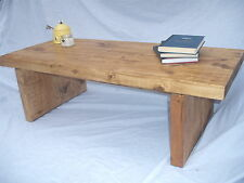 Rustic Coffee Table Plank Chunky Handmade Antique Pine Free Delivery!