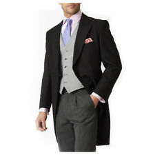New Brook Taverner Classic Pure Wool Morning Suit Jacket - Black - Choose Size