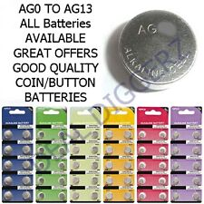 Battery Alkaline Cell Coin AGO AG1 AG2 AG3 AG4 AG5 AG6 AG7 AG8 AG10 AG11 AG13 UK