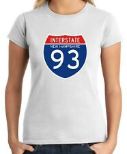 T-shirt Donna TSTEM0044 interstate 93 nh