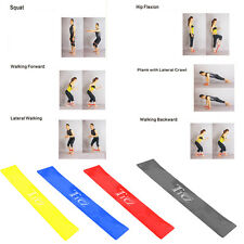 4 Level Resistance Band Loop Yoga Home Gym Fitness Exercise Workout Training