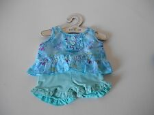 BUILD A BEAR BABW AQUA SHORT SET OUTFIT TEDDY CLOTHES NEW WITH TAG