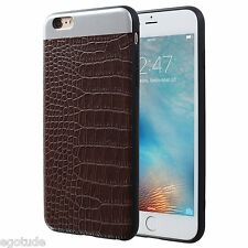 Leather Back Hard Protective Soft Cover Case for Apple iPhone 6S / 6 / 6S Plus