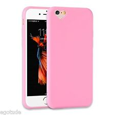 Heart Soft Silicone Simple Cover Case Candy Colour for Apple iPhone 6 & 6S