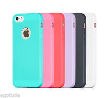 For Apple iPhone 5S & 5 Soft Silicone Hybrid Rubber Cover Case Candy Colour