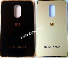 New Arrival Flexible Soft Metallic TPU Back Cover For Xiaomi Redmi Note 4