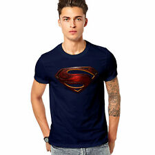 Men Printed T-shirt /t shirt - Superman Printed T Shirt - Man of Steel - Blue