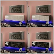BEST! Superb TV Stand Unit Cabinet 120cm + Floating / Standing + Gloss + LED