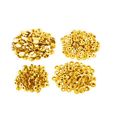 Gold 4-Part Sew On Heavy Duty Press Studs Tool Prongs Snap Fasteners - 15mm