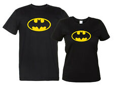 Maglietta Batman Logo T-Shirt Nera Uomo Donna Cult Movie Fumetto Comics Replica