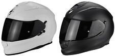 SCORPION EXO 510 Air Solid Casco moto casco integrale parasole nero bianco