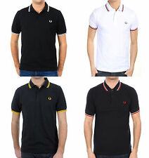 Polo Fred Perry Uomo 100% cotone Custom Fit Manica corta M3600