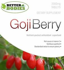 Goji Beeren 2000mg High Strength Antioxidant Capsules Tablets Pack 30-360