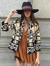 ZARA ETHNIC BOHO EMBROIDERED JACKET SIZE S M NEW