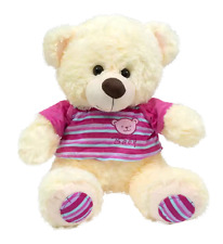 Imported Teddy Bear with Pink T-shirt & Cream Soft Fur 62.5cm