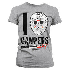 Officially Licensed Friday The 13th- I Jason Campers Women's T-Shirt S-XXL Sizes