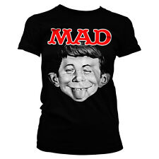 Officially Licensed MAD Magazine- Alfred Women's T-Shirt S-XXL Sizes
