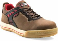 Buckler Sam brown crazy horse leather S3 safety trainer with midsole size 6-13