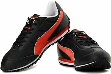 Puma Men's Speeder Tetron II Ind. Black, Orange and White Casual Sneakers