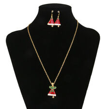 Fancy Design Xmas Jungle Pendant Necklace Set With Earrings Wedding Dance