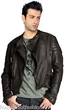 Brown Color Biker Custom Designer Motorcycle Leather Jacket for Men