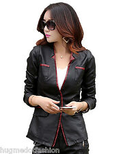 Real Bike Genuine Long Leather Jacket Slim Long Fit Sexxy Girl Jacket