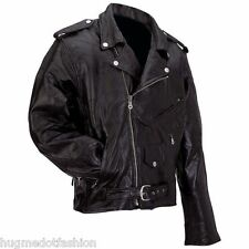 Black Coat Collar Jacket For Men's Jacket With Genuine Leather Fabric