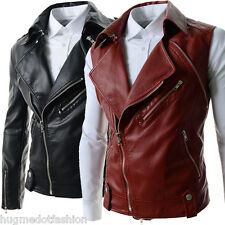 Black And Red Jacket Removeble Genuine Leather Jacket For Men In Hollywood