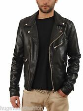 Black Genuine Leather Jacket For Men In Hollywood Styles