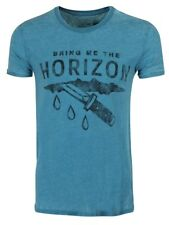 Bring Me The Horizon Wound Burnout Men's Turquoise BMTH T-shirt