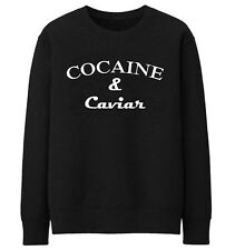 B193 COCAINE AND CAVIAR JUMPER UNISEX HIPSTER SWAG D   weatshirt sweat pullover