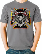 Biker T Shirt Made in the USA Live Legend Eagle Mens Sizes Small to 6XL and Tall
