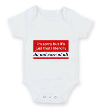 I'm Sorry But It's Just I Don't Care Bothered Hipster Geek Body Suit Baby Grow V