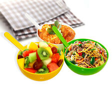 OLIVEWARE ROUND BIG BOWL WITH SPOON SET (with 3 MIX Colour) (MICROWAVE SAFE)