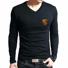 Branded Cotton T Shirt - V Neck Car Logo Printed T Shirt - T Shirt Full Sleeve 1