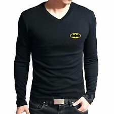 Branded Cotton T Shirt - V Neck Batman Printed T Shirt - T Shirt Full Sleeve