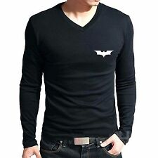 Branded Cotton T Shirt - V Neck Batman T Shirt -  Batman T Shirt Full Sleeve