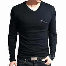 Branded Cotton T Shirt - V Neck Jaguar T Shirt -  Car Brand T Shirt Full Sleeve