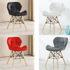 Set of 4 Eiffel Style Chair Pentagone Dining Office Living Room Chair Padded CE