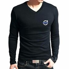 Branded Cotton T Shirt - V Neck Luxury Car Printed T Shirt - T Shirt Full Sleeve