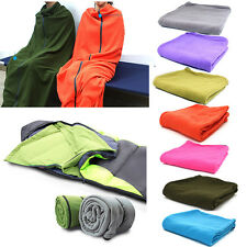 Portable Envelope Polar Fleece Sleeping Bag Liner Blanket Outdoor Camping Travel