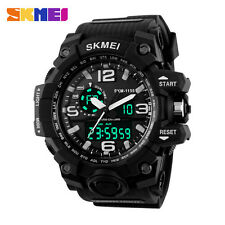 LED Digital Quartz Watches Sports Wrist watch for men black blue