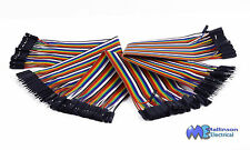 DuPont Hook up Cable wire Rainbow Ribbon of 40/10 Wires Male Male Female Female
