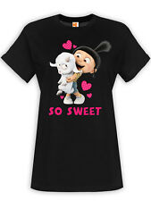 Minions So Sweet Damen T-Shirt Schwarz