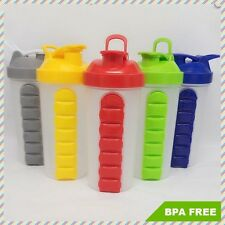 600ml fitness plastic shaker bottle eco-friendly with pill box