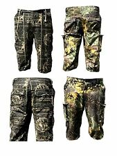 Mens Cargo Shorts Combat Cotton Camouflage Jungle Vintage Beach Summer Real Tree