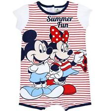 Pagliaccetto neonata Disney Minnie & Mickey Mouse righe rosse