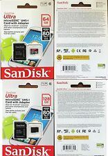 Sandisk 64GB/128GB Ultra Micro SD SDXC Card 80MB/s Class 10 Camera Phone Tablets