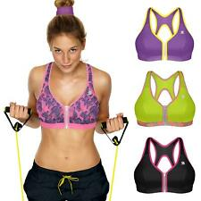 Shock Absorber Womens Active Zipped Sports Bra